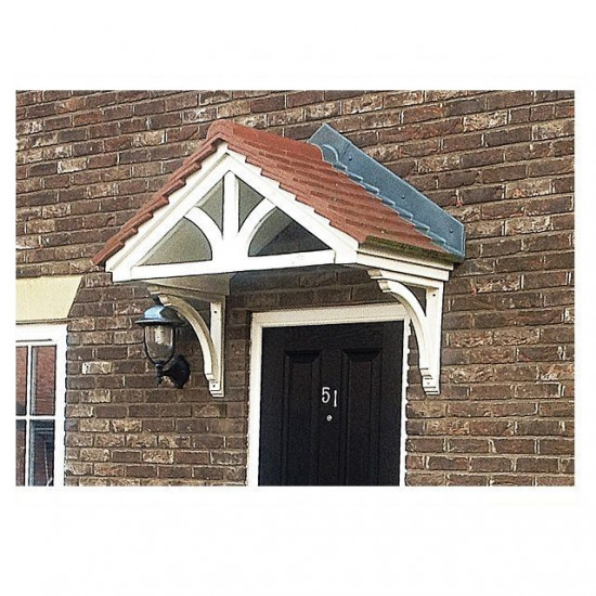 Kempton Duo Pitch Fleur De Lys Feature GRP Door Canopy