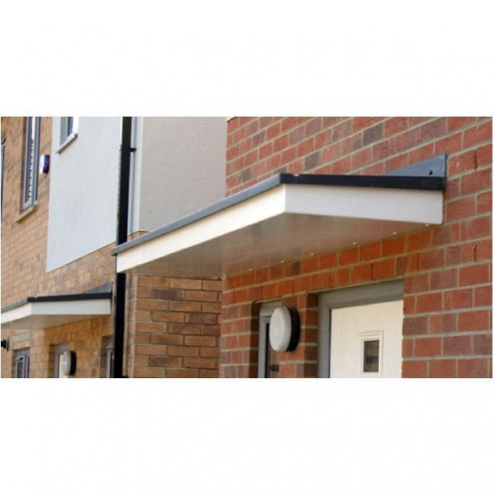 Hexham Flat Lead Effect Roof GRP Door Canopy