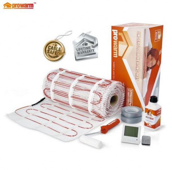 Electric Underfloor Heating Mat Kit 150w 6m2