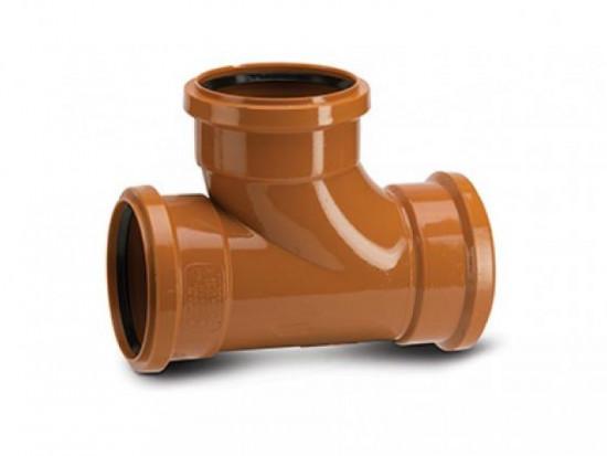 110 x 110mm x 87.5 Deg Underground Drain Junction Triple Socket UG423