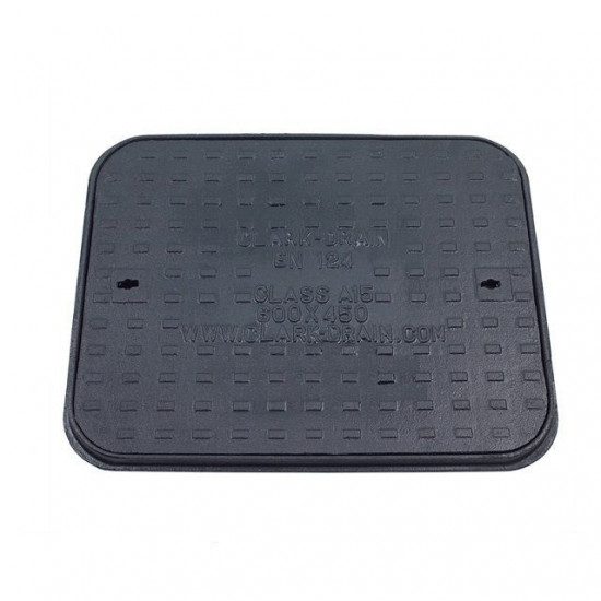 600 x 450 Solid Top Cast Iron Cover and Frame A15KN