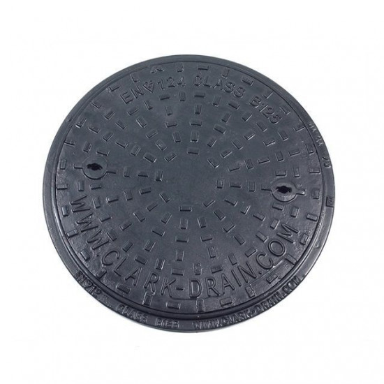 450mm Solid Top Ductile Iron Cover and Frame B125KN