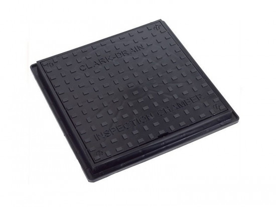300mm Poly Manhole Cover & Frame Locking 35kN