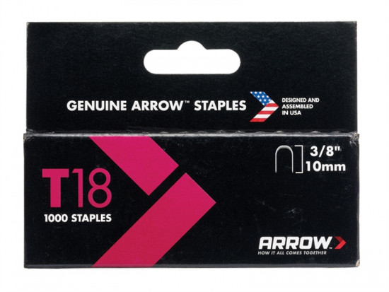 T18 Staples 11mm (7/16in) Box 1000