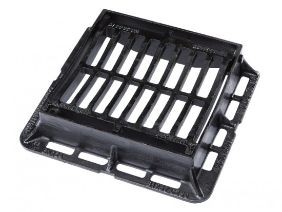 302 x 302 Hinged & Dished Gully Grating & Frame