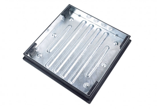 600 x 600 x 80 Recessed Manhole Cover & Frame Galvinised 10T GPW CD791R