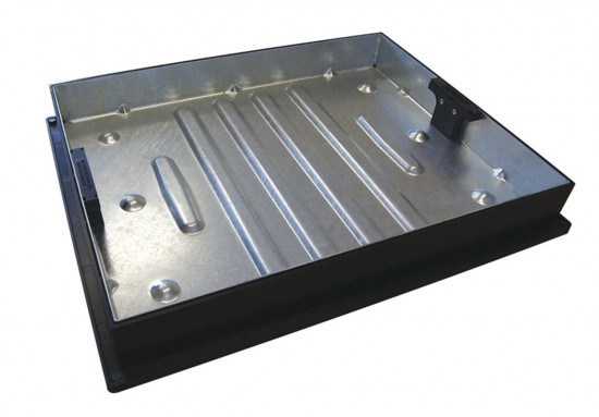 600 x 450 x 80 Recessed Manhole Cover & Frame Galvinised 10T GPW