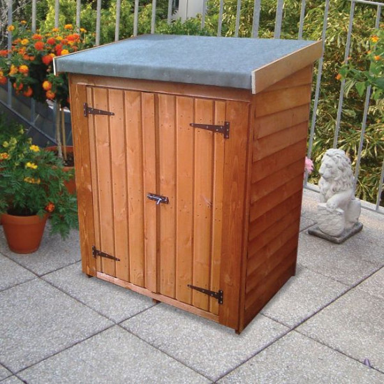 Overlap Clutterbox Treated Compact Storage Unit / Shelter 1.2 x 0.76m