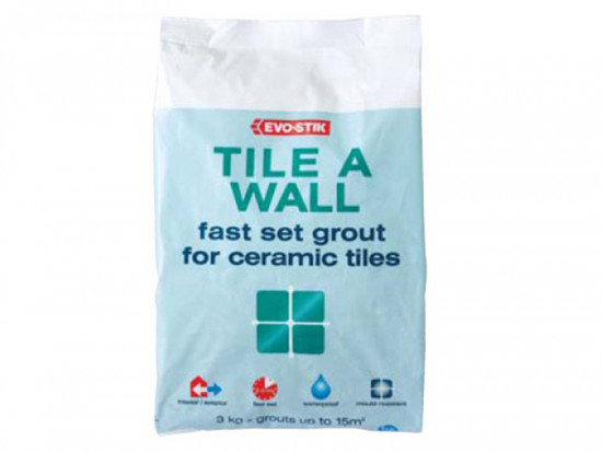 Tile A Wall Fast Set Grout White 1.5kg