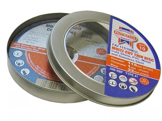 Multi-Cut Thin Cut Off Wheel 100mm x 1.0 x 16 Pack of 10