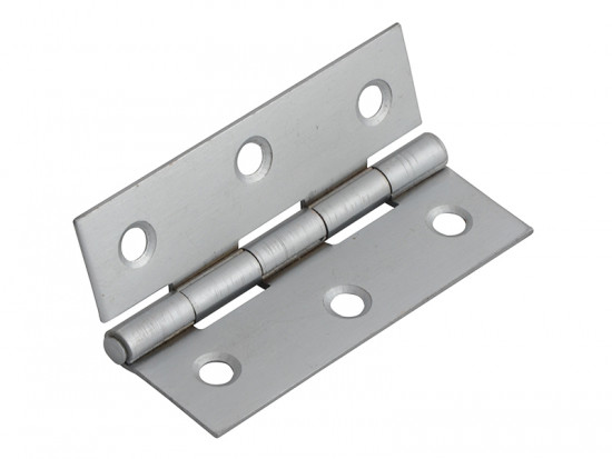 Butt Hinge Satin Chrome Finish 100mm (4in) Pack of 2