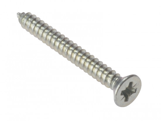 Self-Tapping Screw, Pozi, Countersunk, Zinc Plated, Boxed