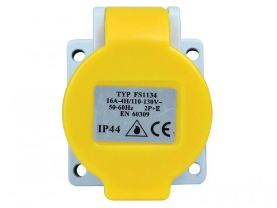 IP44 Panel Socket 16A 110V