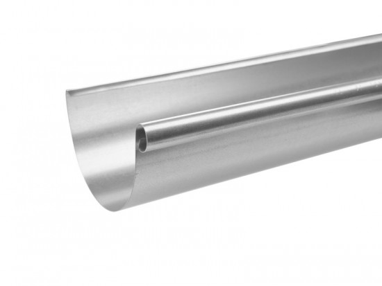 Steel Half Round Gutter Assemblies 3 Metre 100mm Diameter