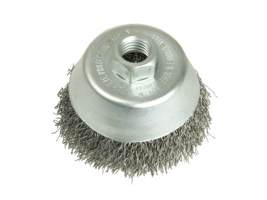 Cup Brush 100mm M14 x 0.35 Steel Wire
