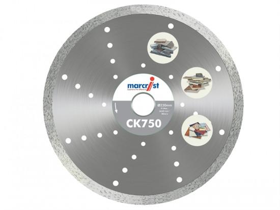 CK750 Diamond Blade Smooth Tile Cut 115mm x 22.2mm Hand
