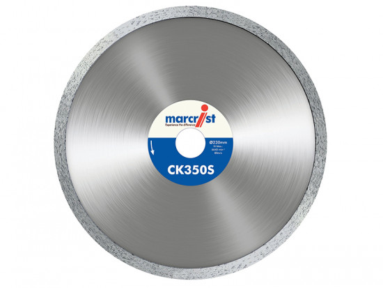 CK350 Smooth Rim Diamond Blade Tile Cut 115mm x 22.2mm