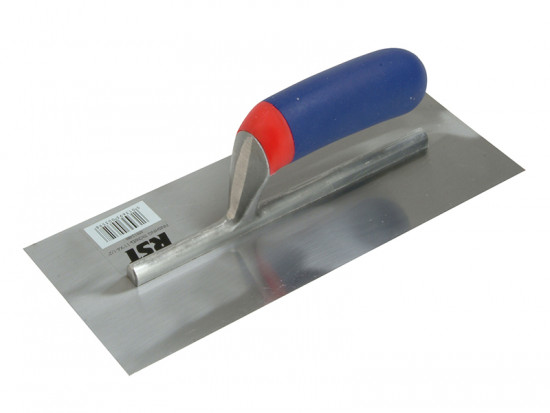 Plasterers Finishing Trowel Straight Wooden Handle 11in x 4.1/2in