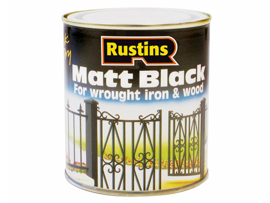 Matt Black Paint Quick Drying 1 Litre