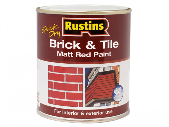 Quick Dry Brick & Tile Paint Matt Red 1 Litre