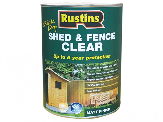 Quick Dry Shed and Fence Clear Protector 1 Litre