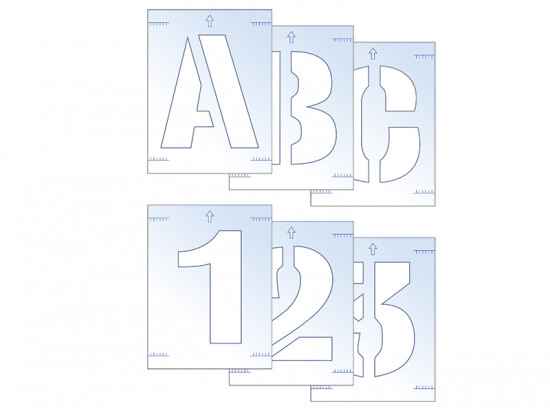Letter & Number Stencil Kit 100mm