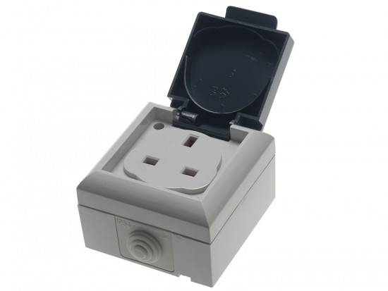 IP54 Outdoor Socket 13A 1 Gang
