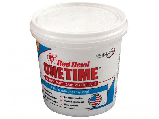 Red Devil Onetime Filler 1 Litre