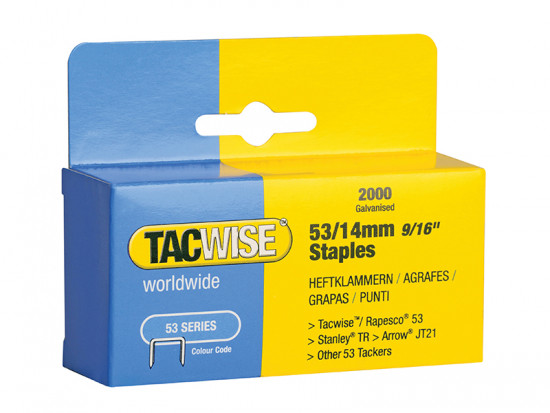 53 Light-Duty Staples 10mm (Type JT21, A) Pack 2000