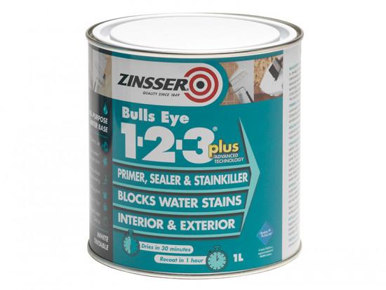123 Bulls Eye Plus Primer / Sealer Paint 1 Litre