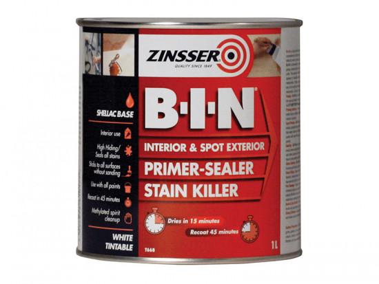 B.I.N Primer / Sealer Stain Killer Paint 1 Litre
