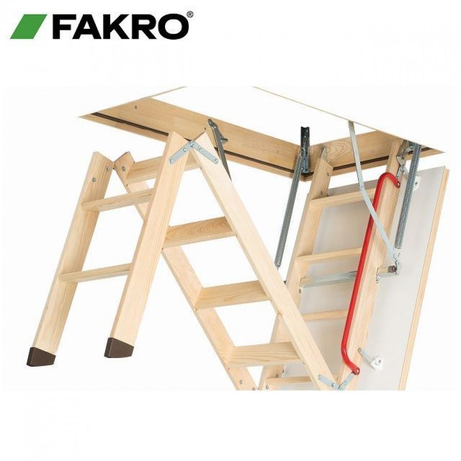 fakro loft ladder folding wooden lwk 600mm x 1200mm. Black Bedroom Furniture Sets. Home Design Ideas