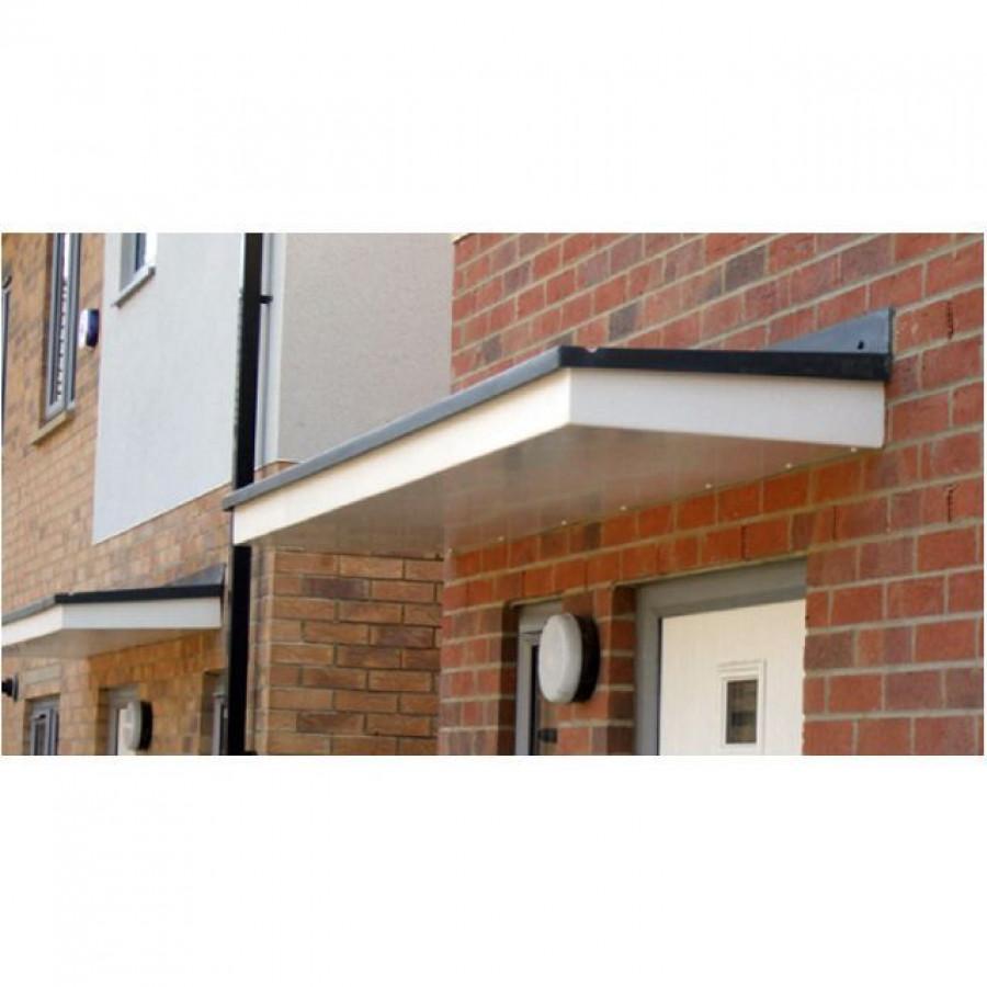 Hexham Flat Lead Effect Roof GRP Door Canopy  sc 1 st  LBSBMOnline & Composite Porch Door Canopies - HOME IMPROVEMENT