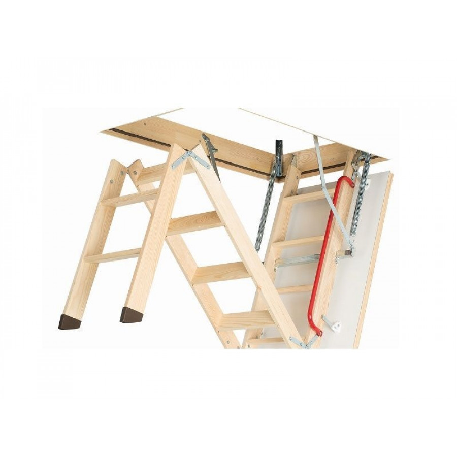 Fakro Loft Ladder Folding Wooden Lwk 550mm X 1110mm