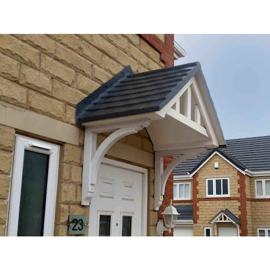 LBS Sedgefield Duo Pitch GRP Door Canopy  sc 1 st  LBSBMOnline & Composite Porch Door Canopies - HOME IMPROVEMENT