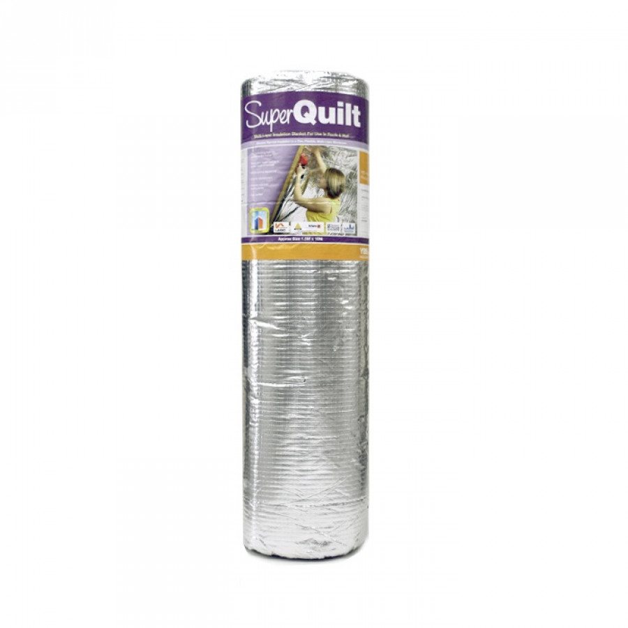 Superquilt Multifoil Insulation 1.5m x 10m Rolls : quilt loft insulation - Adamdwight.com