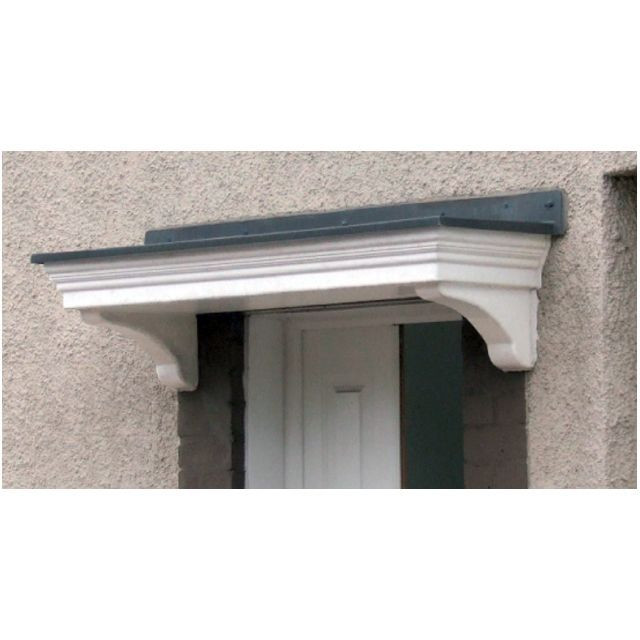 sc 1 st  LBSBMOnline & Epsom Flat Lead Effect Roof GRP Door Canopy