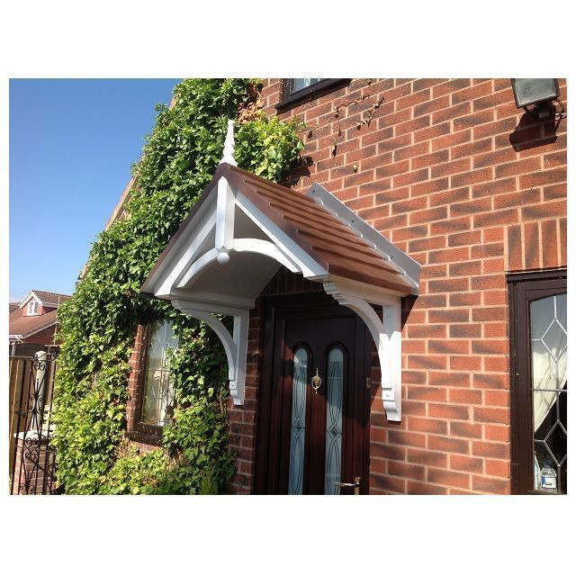Beverley Victorian Style GRP Door Canopy With Finial