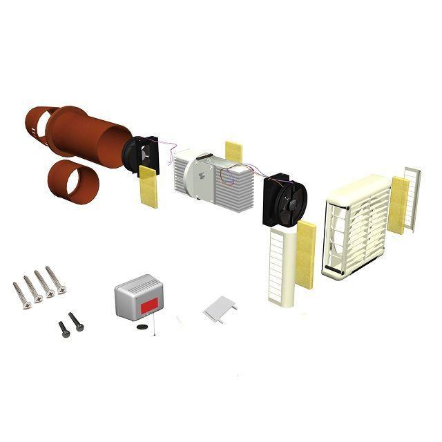 Heat Extractor Fan : Heat recovery extractor fan single room hrv