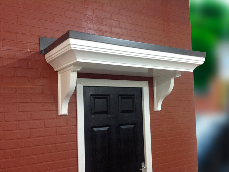 & Pontefract Flat Lead Effect Roof GRP Door Canopy