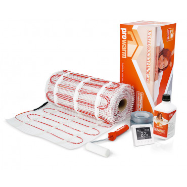 Electric Underfloor Heating 100w mat kit with Protouch-E Wifi Thermostat