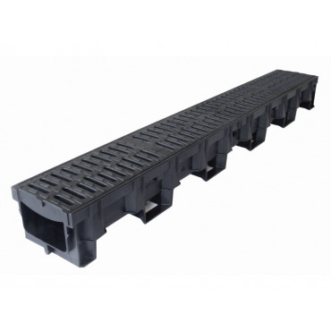 1m Hexdrain Plastic Channel B125