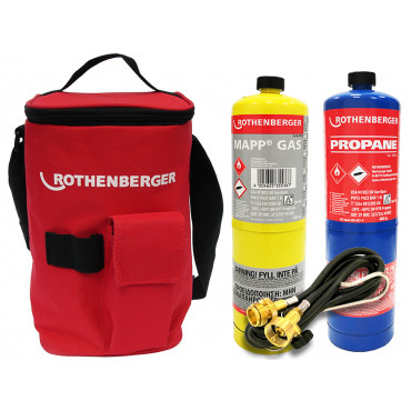 Plumbers Hot Bag With Propane Gas, Mapp Gas and Extension Hose