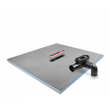 Linear Center drain wet room shower tray with Linear Drain and Tileable cover