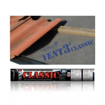 Vent 3 Classic Breathable Roofing Membrane 1.5m x 50m 115gsm