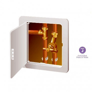 White Access Panel - Inspection Hatch 150 x 230