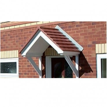 Arran Duo Pitch Open GRP Front Door Canopy