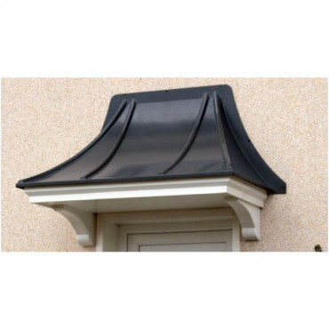 Chepstow Curved Lead Effect GRP Door Canopy