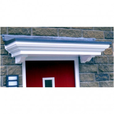 Haydock Flat Lead Effect Roof GRP Door Canopy