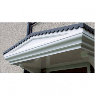 Goodwood Flat Lead Effect Roof GRP Door Canopy